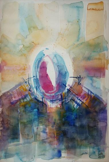 CW2016_abstract_watercolor008 / Daler-Rowney Graduate Sketchbook, 21,0 x 29,7 cm / 8.3 x 11.7 in / Lukas Aquarell 1862