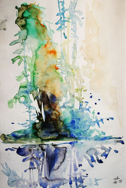 CW2016_abstract_watercolor011 / Daler-Rowney Graduate Sketchbook, 21,0 x 29,7 cm / 8.3 x 11.7 in / Lukas Aquarell 1862