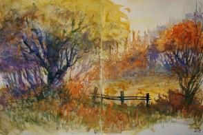 242_2016 Watercolor-Sketches /Daler-Rowney Graduate Sketchbook, 2x 21,0 x 29,7 cm / 8.3 x 11.7 in / Lukas Aquarell 1862