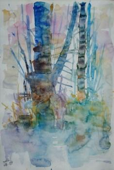 CW2016_abstract_watercolor017 / Daler-Rowney Graduate Sketchbook, 21,0 x 29,7 cm / 8.3 x 11.7 in / Lukas Aquarell 1862