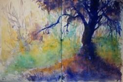 251_2016 Watercolor-Sketches /Daler-Rowney Graduate Sketchbook, 2x 21,0 x 29,7 cm / 8.3 x 11.7 in / Lukas Aquarell 1862