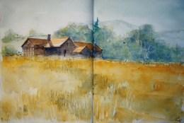 266_2016 Watercolor-Sketches /Daler-Rowney Graduate Sketchbook, 2x 21,0 x 14,9 cm / 8.3 x 5.8 in / Lukas Aquarell 1862