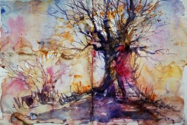289_2016 Watercolor-Sketches /Daler-Rowney Graduate Sketchbook, 2x 21,0 x 14,9 cm / 8.3 x 5.8 in / Lukas Aquarell 1862