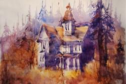 292_2016 Watercolor-Sketches /Daler-Rowney Graduate Sketchbook, 2x 21,0 x 14,9 cm / 8.3 x 5.8 in / Lukas Aquarell 1862