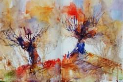 298_2016 Watercolor-Sketches /Daler-Rowney Graduate Sketchbook, 2x 21,0 x 14,9 cm / 8.3 x 5.8 in / Lukas Aquarell 1862