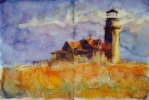 305_2016 Watercolor-Sketches /Daler-Rowney Graduate Sketchbook, 2x 21,0 x 14,9 cm / 8.3 x 5.8 in / Lukas Aquarell 1862