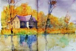 306_2016 Watercolor-Sketches /Daler-Rowney Graduate Sketchbook, 2x 21,0 x 14,9 cm / 8.3 x 5.8 in / Lukas Aquarell 1862