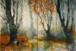 317_2016 Watercolor-Sketches /Daler-Rowney Graduate Sketchbook, 2x 21,0 x 14,9 cm / 8.3 x 5.8 in / Lukas Aquarell 1862