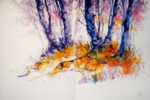 320_2016 Watercolor-Sketches /Daler-Rowney Graduate Sketchbook, 2x 21,0 x 14,9 cm / 8.3 x 5.8 in / Lukas Aquarell 1862