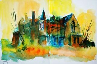 394_2016 Watercolor-Sketches /Daler-Rowney Graduate Sketchbook, 2x 21,0 x 14,9 cm / 8.3 x 5.8 in / Lukas Aquarell 1862
