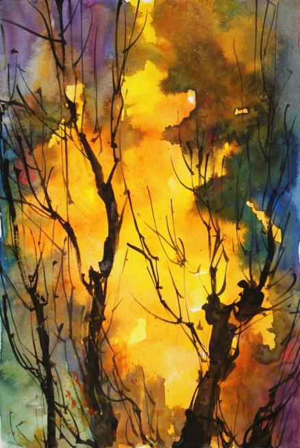 412_2016 Watercolor-Sketches /Daler-Rowney Graduate Sketchbook, 21,0 x 14,9 cm / 8.3 x 5.8 in / Lukas Aquarell 1862