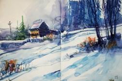 418_2016 Watercolor-Sketches /Daler-Rowney Graduate Sketchbook, 2x 21,0 x 14,9 cm / 8.3 x 5.8 in / Lukas Aquarell 1862
