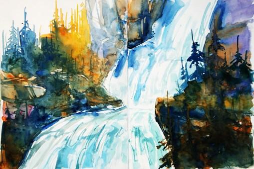 421_2016 Watercolor-Sketches /Daler-Rowney Graduate Sketchbook, 2x 21,0 x 14,9 cm / 8.3 x 5.8 in / Lukas Aquarell 1862