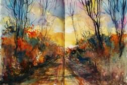 427_2016 Watercolor-Sketches /Daler-Rowney Graduate Sketchbook, 2x 21,0 x 14,9 cm / 8.3 x 5.8 in / Lukas Aquarell 1862