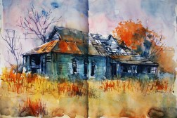 429_2016 Watercolor-Sketches /Daler-Rowney Graduate Sketchbook, 2x 21,0 x 14,9 cm / 8.3 x 5.8 in / Lukas Aquarell 1862
