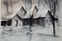 406_2016 Watercolor-Sketches /Daler-Rowney Graduate Sketchbook, 2x 21,0 x 29,7 cm / 8.3 x 11.7 in / Lukas Aquarell 1862