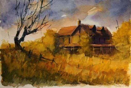 033_2017 Watercolor-Sketches /Marabu Mixed Media 21,0 x 14,8 cm / 8.3 x 5.8 in / Lukas Aquarell 1862