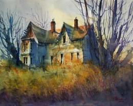 058_2017 Watercolor / Canson Montval 40,0 x 50,0 cm - 15.7`x 19.7`/ Lukas Aquarell 1862