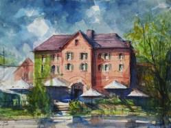 159_2017 Watercolor / Hahnemühle Anniversary Edition ca.48 x 36 cm / 18.9 x 14.2 in / Lukas Aquarell 1862 Plein-Air Brüggen I