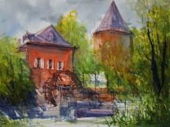 160_2017 Watercolor / Hahnemühle Anniversary Edition ca.48 x 36 cm / 18.9 x 14.2 in / Lukas Aquarell 1862 Plein-Air Brüggen II