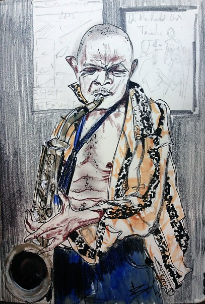 old man with his pipe..