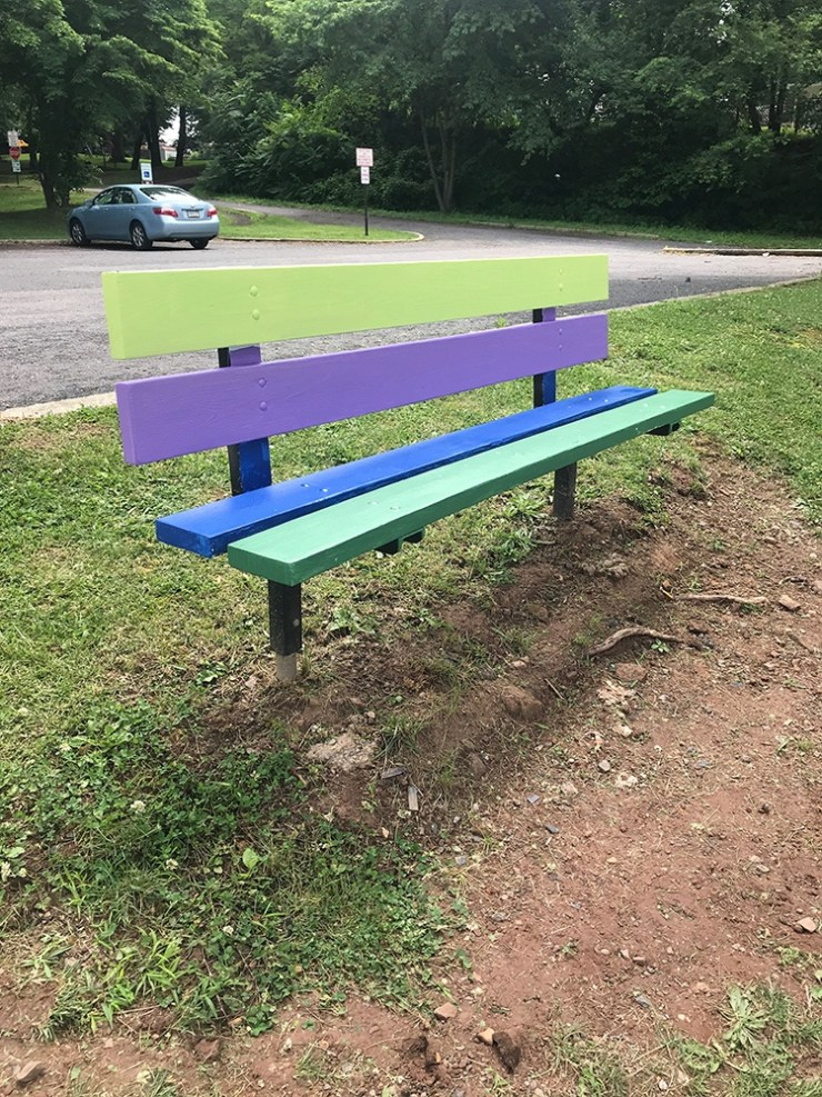 Cool toned bench