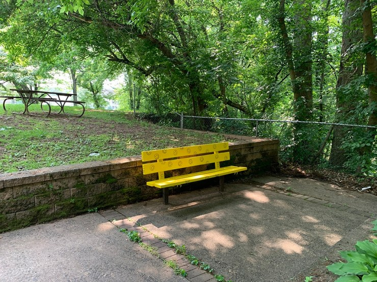 A bench that radiates positivity and smiles