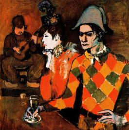 """At lapin agile (Harlequin with glass)"" 1905, Metropolitan Museum of Art, NY"