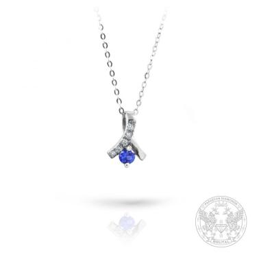 Златен медальон с диаманти и сапфири