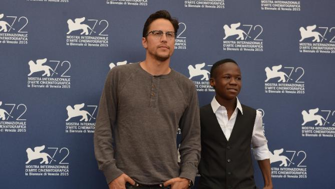 US director Cary Fukunaga and Attah Abraham at Venice Film Festival