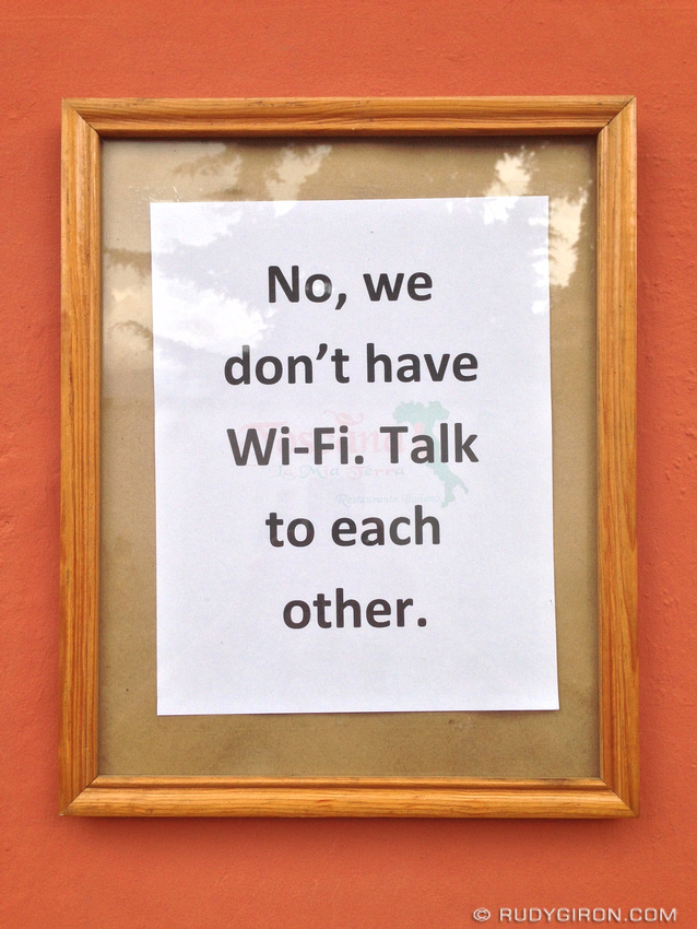 I came across one of such notices at a Cafe in Greenwich, London