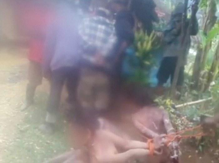 Disturbing still from the video