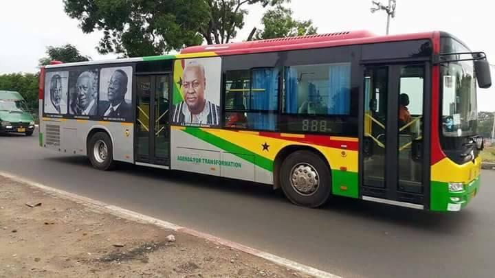 Mahama Bus in Ghana