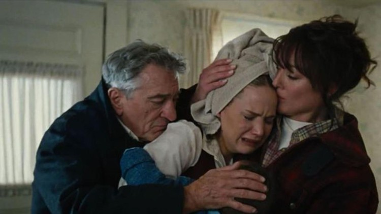 Robert De Niro, Jennifer Lawrence and Virginia Madsen in Joy