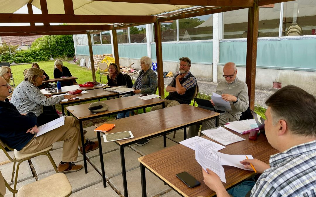 Town Council meets outdoors to beat COVID rule confusion