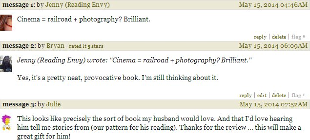 Goodreads comments on River of Shadows