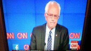 Bernie Sanders on CNN, photo by saskboy