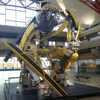 Giant robot, Pittsburgh airport