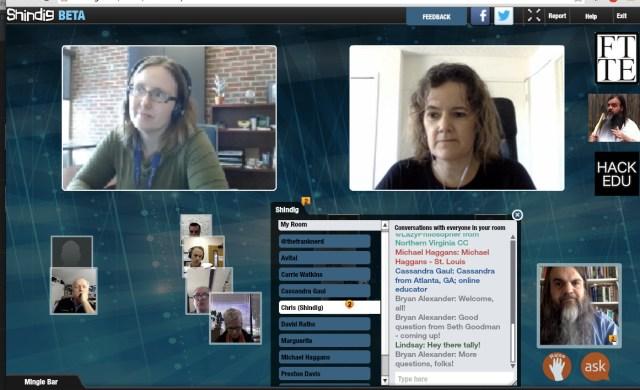Future Trends Forum #1 screenshot, Audrey and Autumm