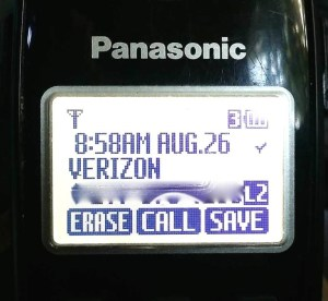 Fairpoint caller is Verizon, or voice versa