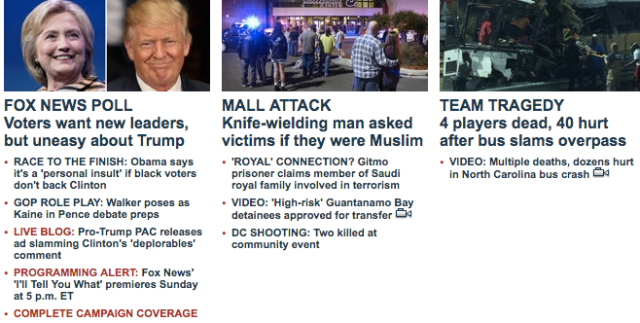 Fox News headlines