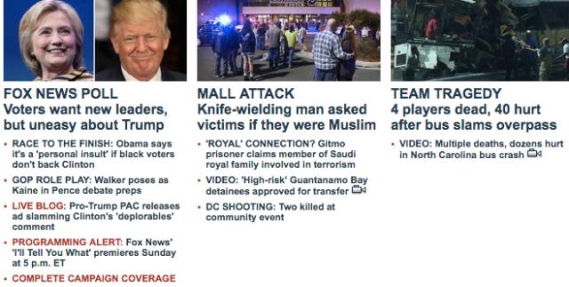 Fox News headlines