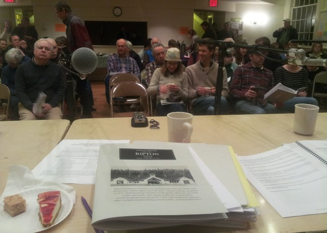 Ripton town meeting from the front