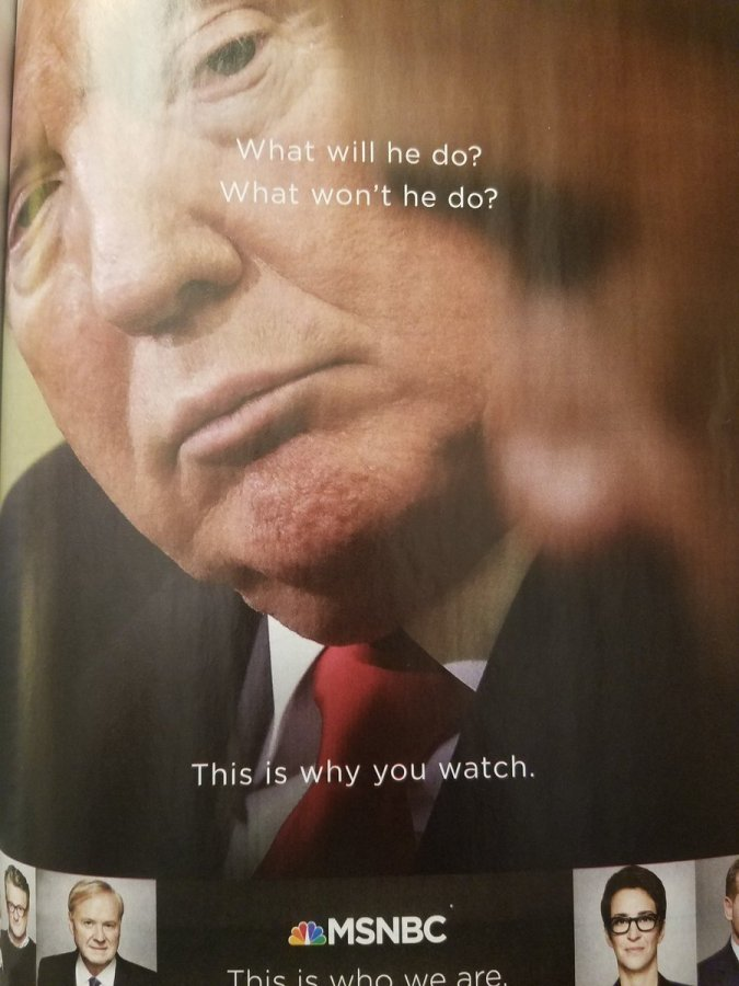 "Tweet fro Joe Hagan: ""This ad nails everything that is wrong with the media. Fascism as ratings spectacle."""