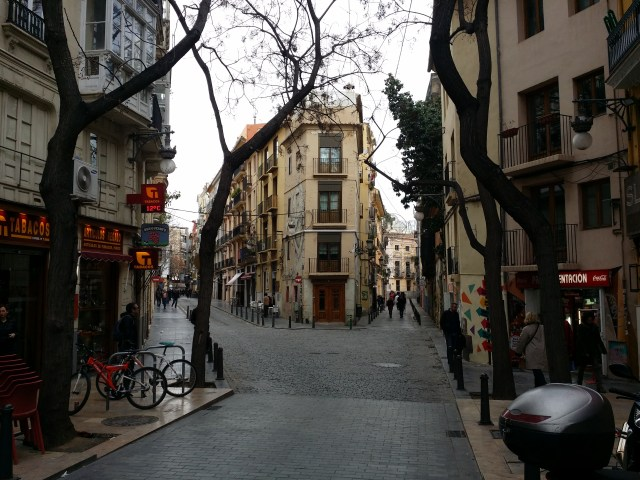 A corner of Valencia's old city.