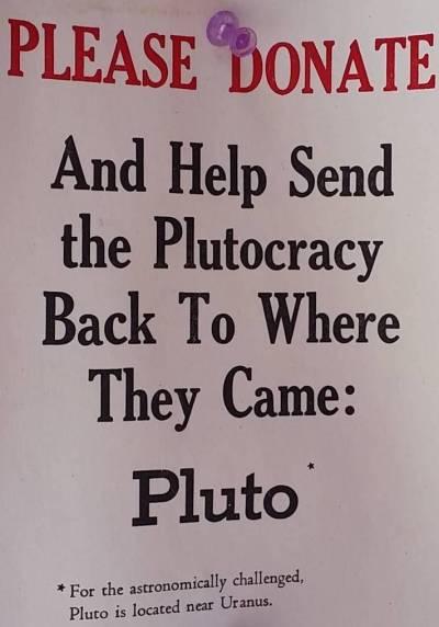 Plutocracy sign