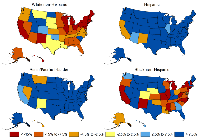 Grawe_Figure 1_6 Forecasted growth in public high school graduates by race-ethnicity 2012 to 2032
