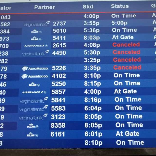 DTW canceled flights