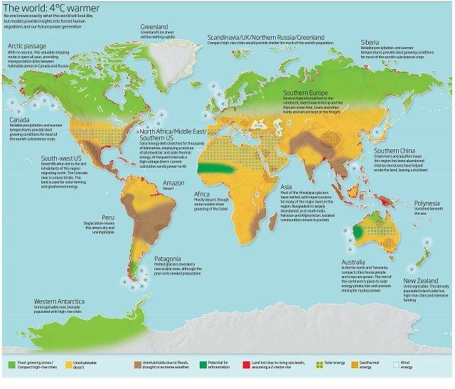 The world at 4°C warmer.
