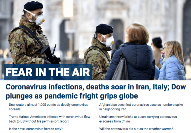 coronavirus Fox News Fear in the Air